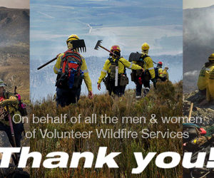 Letter from Volunteer Wildfire Services